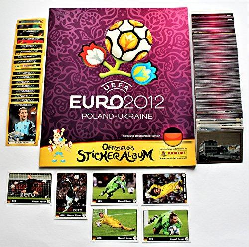 Panini Euro 2012 - Komplettsatz 540 Sticker + 20 Sticker D1 - D20 + Set 6 Sticker Manuel Neuer Coca Cola + Leeralbum