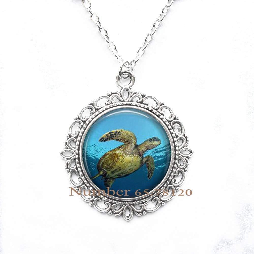 Domed Sea Turtle Pendant
