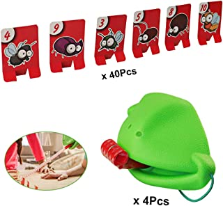 Tig Tec Tongue Catch Bugs Game Chameleon Quick Tongue Tabletop Game Children Reaction Fun Toy