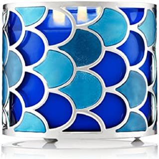Bath & Body Works 3 Wick Candle Sleeve Holder Glittery Fish Scales