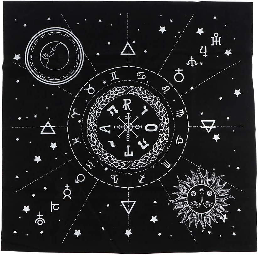 MNBD Divination Regular dealer Tapestry A surprise price is realized Black Astrology Constellations Tarot 12
