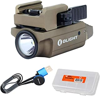 OLIGHT PL-Mini 2 Valkyrie 600 Lumen (PL Mini 2) Rechargeable Compact Flashlight, Fits Glock, Sig Sauer, S&W, Springfield, Walther, Taurus and All Pistols with Rail, Black or Desert Tan (FDE)