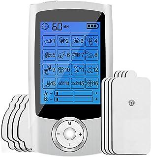 comprar comparacion Electroestimulador Digital Portatil, Estimulador Muscular 16 Modos 2 Canales USB Recargable Masajeador Electro para el Cer...
