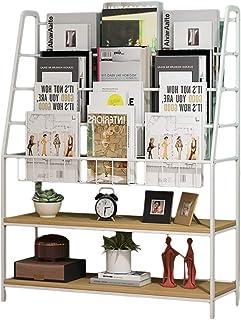 Estanterías para CD DVD Estantería infantil de hierro forjado Estante de almacenamiento multifuncional Soporte de libros para bebés de pie Biblioteca de lectura para estudiantes ( Size : 60*27*100cm )