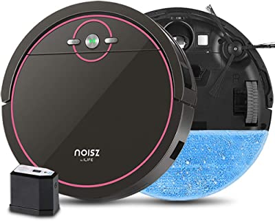 Noisz by ILIFE S5 Pro, 2-in-1 Mopping, Robot Vacuum, with ElectroWall, Automatic Self-Charging, MAX Mode, Water Tank, Tangle-Free, Quiet, Ideal for Pet Care, Hard Floor and Low Pile Carpet.
