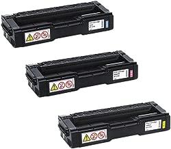 Ricoh 407540, 407541, 407542 Standard Yield Toner Cartridge Set Colors Only (C/M/Y)