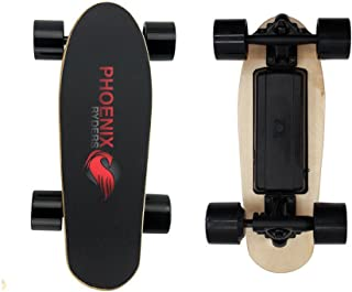 PHOENIX RYDERS Electric Skateboard Electronic Longboard 12.4 MPH Top Speed, 9.2 Miles Range,250 W Hub Motor and 2.2AH Lith...