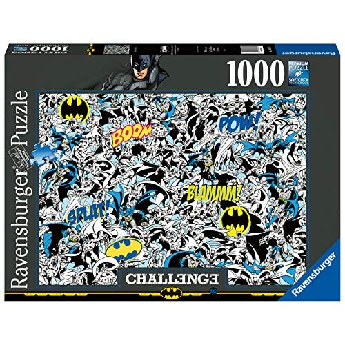 Ravensburger Puzzle, Puzzle 1000 Pezzi, Batman, Puzzle per Adulti, Collezione Challenge, Puzzle Impossibili, Puzzle Ravensburger - Stampa di Alta Qualità