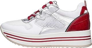 Sneaker da Donna NeroGiardini in Pelle BiancoE010568D. Sneaker dal Design Raffinato. Collezione Primavera Estate 2020