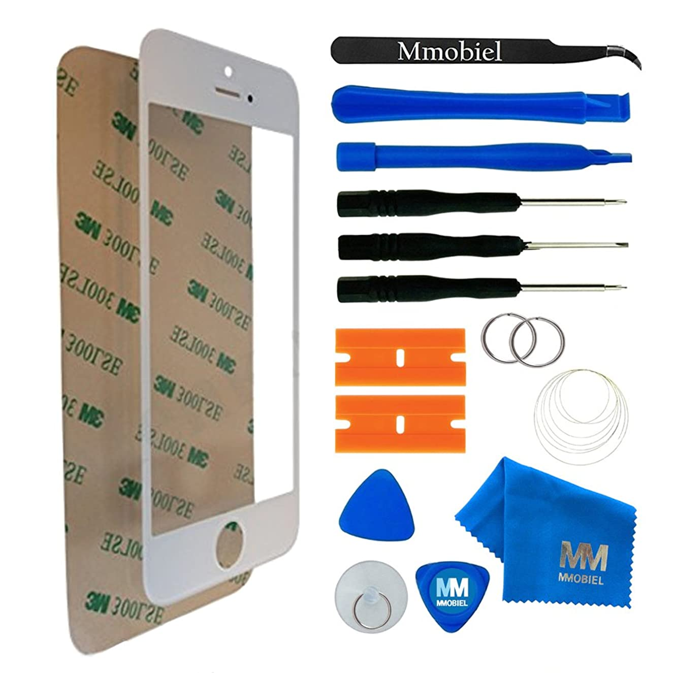MMOBIEL Front Glass Replacement Compatible with iPhone 6 / 6S (White) Display Touchscreen incl Tool Kit