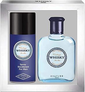 WHISKY VINTAGE • Caja Eau de Toilette 100ML + Desodorante 15OML • Vaporizador • Spray • Perfume para hombre • Regalo• EVAF...