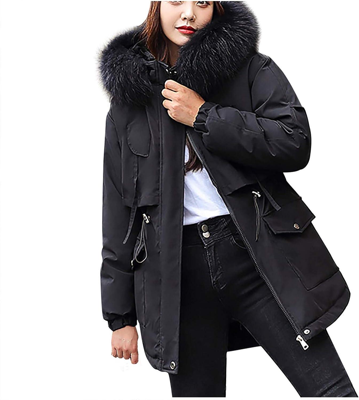 Women's Jacket ATRISE Fashion Winter Coat Short,Casual Hooded Loose Cotton Jacket Coat,Trench Coat