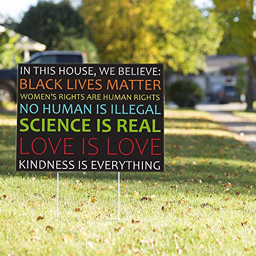 """Vispronet Kindness is Everything Yard Sign Message – 23"""" x 17"""" Weather Resistant Yard Sign with Stake - Unique and Creative Way to Get Your Message Heard"""