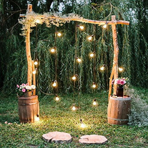 Baocicco 6x6ft Rustic Style Engagement Ceremony Backdrop Stunning Wedding Arch Decorations Twinkle Lights Floral Bouquets Background Wedding Date Valentine's Day Lover Couples Portrait Studio Props