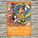 1912 Olympic Games Stockholm Blechschild Metall Plakat