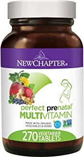 New Chapter Prenatal Vitamins, 270 ct, Organic Non-GMO Ingredients - Eases Morning Sickness with Ginger, Best Prenatal Vitamins Fermented with Wholefoods for Mom & Baby - (Packaging May Vary)