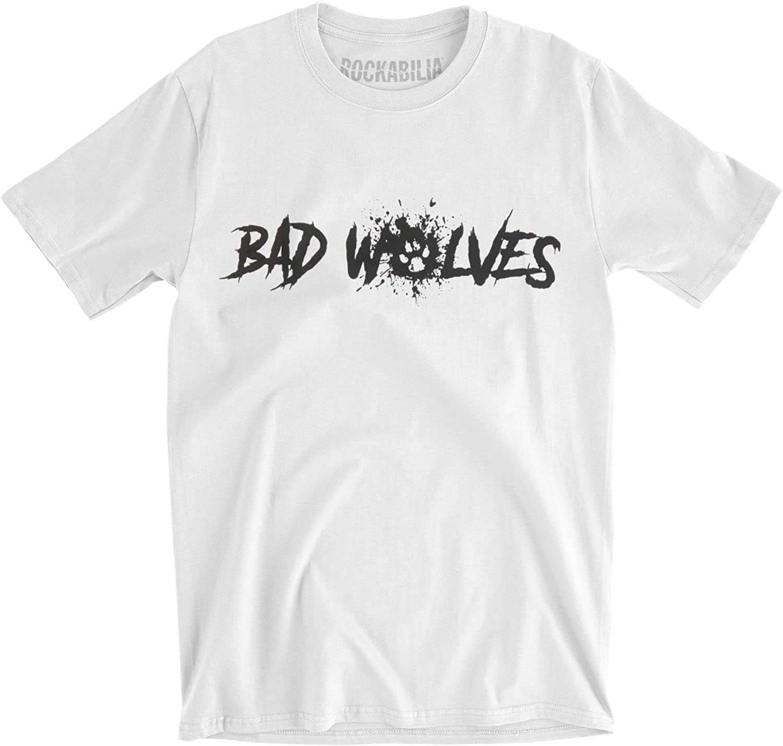 Bad Wolves Men's Paw Logo T-Shirt Slim Fort Worth Mall White High order Fit