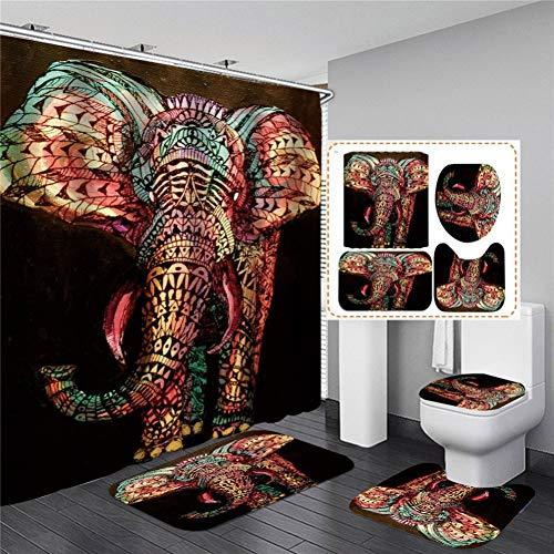 QQAAZZ Elefant Tier Duschvorhang Astract Bilder Vorhang wasserdichtes Polyester in der Badezimmerdekoration wasserdichtes Bad Courtain