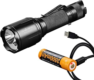Image of Fenix TK25 Red Version 1000 Lumen White/310 Lumen Red Tactical Hunting Flashlight with 3500mAh USB Rechargeable Battery and Lumen Tactical Charging Cable
