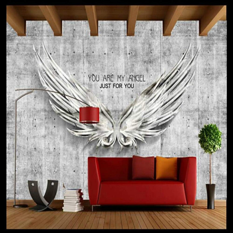envío gratis YYBHTM Parojo De Cemento del del del Vintage Alas De ángel Fondo De La Parojo Decoración Pintura Mural Wallpaper para Sala De EEstrella  tienda de venta en línea