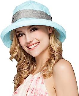 Women's Summer Beach Hat Bucket Hat Fedorahüte Large Edge Anti UV Sun Hat Sun Hat