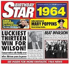 1964 Birthday Gift - 1964 Chart Hits CD and 1964 Birthday Card