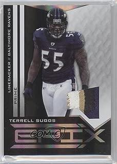Terrell Suggs #42/50 (Football Card) 2010 Panini Epix - Epix - Threads Black Jerseys Prime [Memorabilia] #42