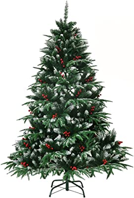 Amazoncom Best Choice Products 75ft Pre Lit Spruce Hinged