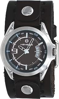 Nemesis DB270B Men's Sport Racing Brown Dial Dark Brown Wide Leather Band Watch