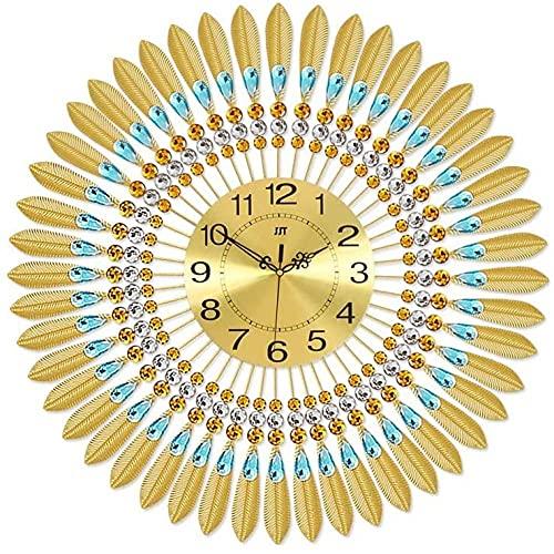 Reloj De Pared Reloj De Pared Decorativo Tamaño 70Cm * 70Cm Reloj De Pared Dorado Pared De Estar Moderna Habitación Atmosférica Habitación Individual Tabla De Silencio Relojes De Cuarzo