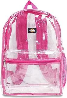Dickies Clear PVC Laptop Backpack, Pink
