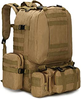weuiuit 50L Tactical Backpack Military Molle Army Bag 1000D Nylon Hunting Camping Hiking Travel Backpack Outdoor