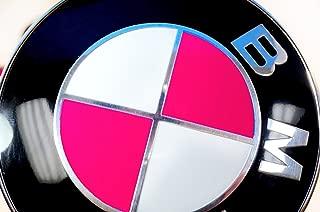 Hot Pink Magenta Sticker Overlay Vinyl for All BMW Emblems Caps Logos Roundels