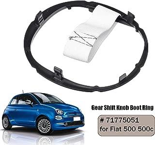 Gavita-Star - 71775051 Car Gear Shift Knob Gaiter Boot Ring Auto Gear Stick Lever Frame For Fiat 500 500c