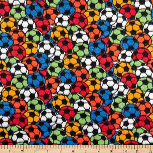 Polar Fleece Soccer Stadium Primary, Fabric by the Yard