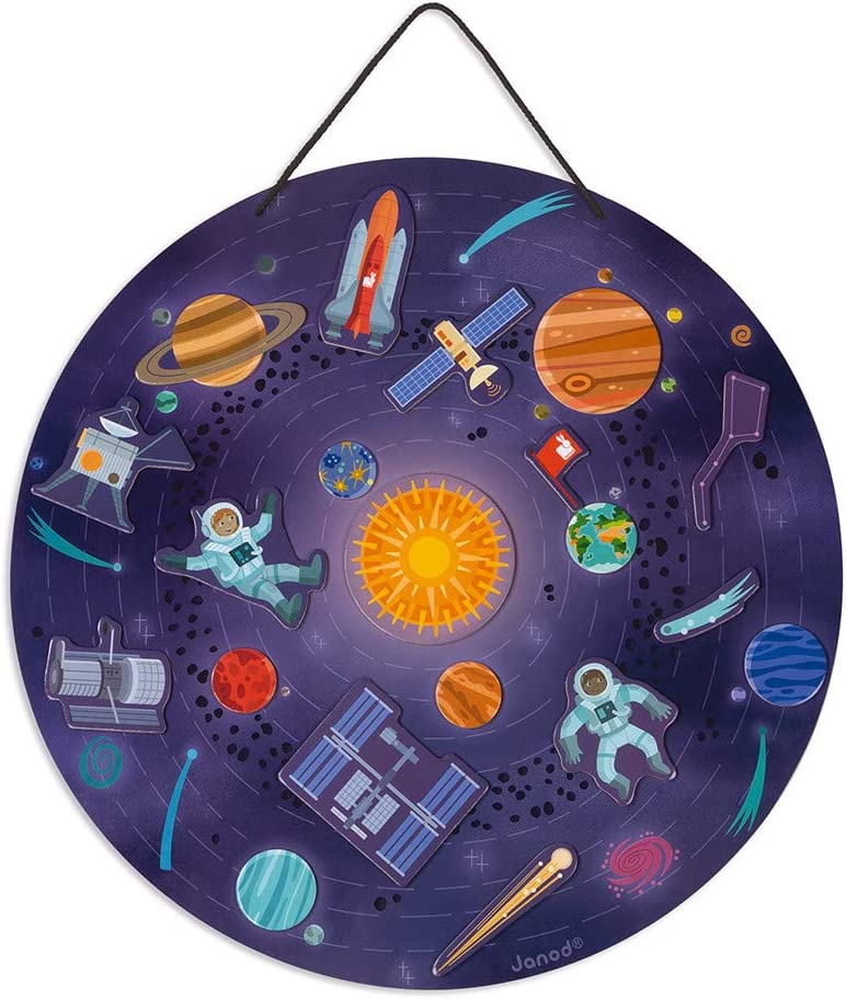 Janod Sale item NEW Magnetic Solar System Hanging Map 7+ J05462 for Ages