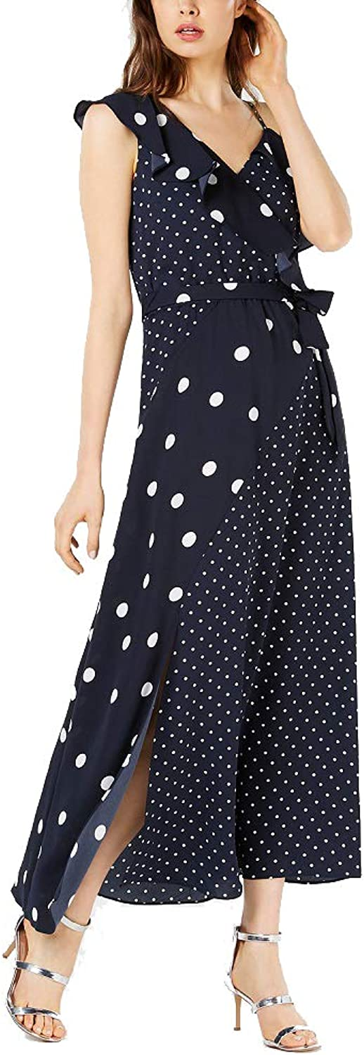 Bar III Mixed DotPrint Maxi Dress
