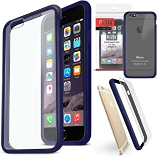 Orzly Fusion Bumper Case for Apple iPhone 6 & 6S (2014 & 2015 Version of 4.7 Inch Model) - Protective Hard Cover Shell with Anti-Scratch Clear Back Panel & Impact Absorbing Rubber Rim in Blue