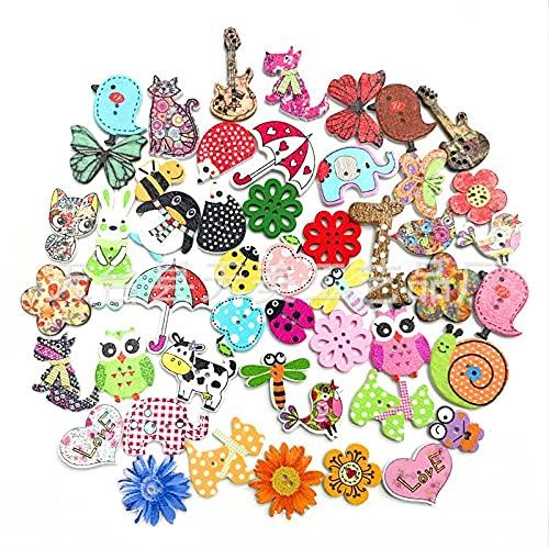 JZLMF Pegatinas de dibujos animados con flores de animales mezclados al azar