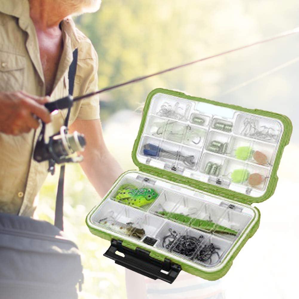 Green Borlai Fishing Tackle Tough Box Fly Fishing Box Lightweight Fly Box Fly Fishing Lures Box