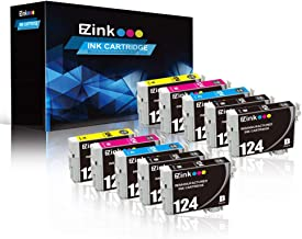 E-Z Ink (TM) Remanufactured Ink Cartridge Replacement for Epson 124 T124 to use with NX125 Stylus NX127 NX130 Stylus NX230 NX330 Stylus NX420 NX430 Workforce 320 323 325 Workforce 435 (10 Pack)