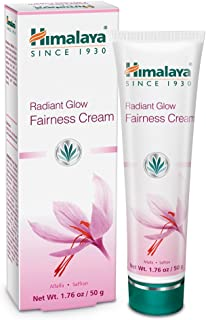 Himalaya Radiant Glow Fairness Cream for Dark Spots, Eye Bags and Under Eye Circles, Free from Parabens and Bleach, Moisturizing and Brightening Cream with Saffron and Alfalfa, 1.76 oz (50 g)