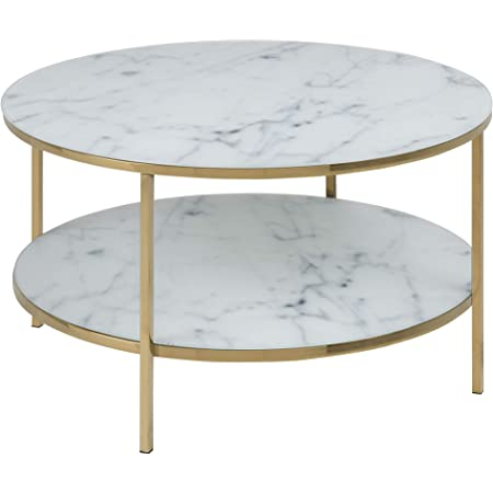 Marque Amazon - Movian Rom - Table basse, 80x80x45cm (longueurxlargeurxhauteur), Blanc