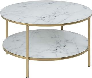 Amazon Brand - Movian Rom - Mesa de centro 80 x 80 x 45 cm (largo x ancho x alto) blanco