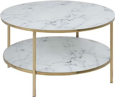 Amazon Brand - Movian Rom - Tavolo da caffè, 80 x 80 x 45 cm (Lu x La x A), bianco