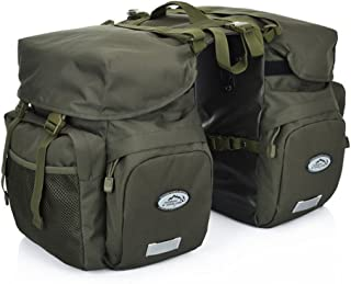 ZTZ Canvas Cycling Bicycle Bike Pannier Rear Seat Bag Rack Trunk (Waterproof, Roll-Up)