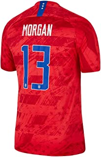 Morgan #13 USA Away Youth (Big Kids') Soccer Jersey 2019/20 (Red)