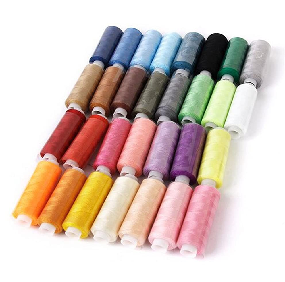 Polyester Sewing Thread Sets-NALEDI 30 Color sewing machine thread polyester spool Each roll 250 yards Assorted Colors Sewing Thread for Embroidery Machine