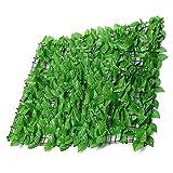 Balcone Protezione Nuove Foglie Allungate di Siepe Artificiale Recinzione da Giardino Maglia Rurale Decorare Casa Sala da Pranzo, Terrazza, Balcone, Cortile (Color : Green#B, Size : 1x1m)