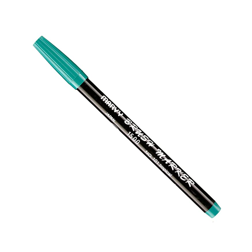 Uchida Of America 1500-C-101 Brush Marker, Tropical